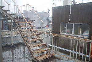 リフォーム前テラス階段