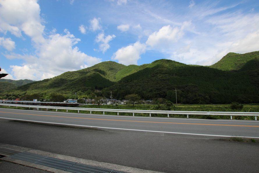 大自然豊かな山が物件の目の前にあります。