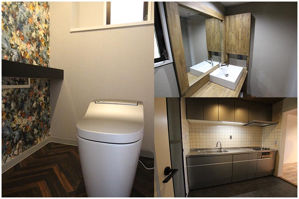 姫路市北新在家A様邸のトイレや洗面化粧台