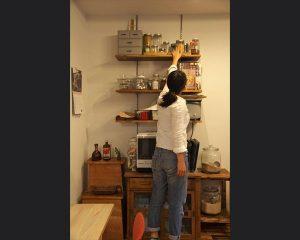 キッチン棚の収納はたっぷり収められるようにしておます