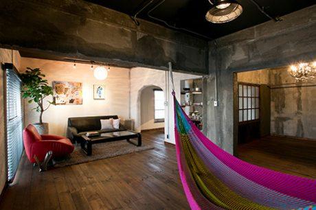 築35年の団地をリノベーションハンモック のあるおしゃれな住空間に