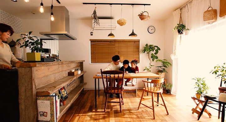 居住空間がひとつにつながって家族同士のコミュニケーションが増える住まい