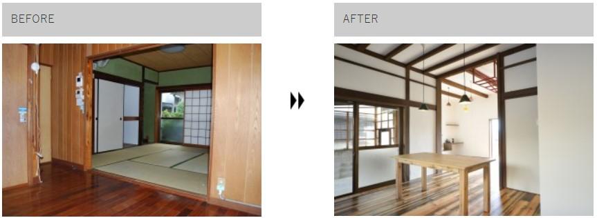 和室→ダイニングキッチン