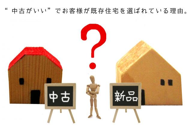 """""""中古がいい""""でお客様が既存住宅を選ばれている理由。"""